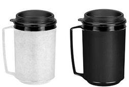 two insulated coffee mugs like