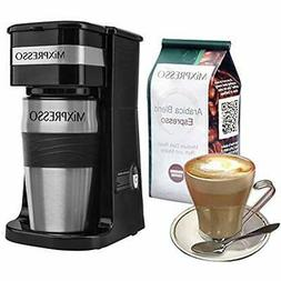 Ultimate 2-In-1 Single Cup Coffee Maker &amp 14oz Travel Mug