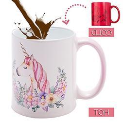 Onebttl Unicorn Mug, Heat Changing Mug, Funny Heat Sensitive