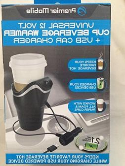 Universal 12V USB Car Charger & Cup Beverage Warmer Auto Cof