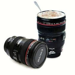 US Portable Novelty Travel Mug Cup Coffee Tea Camera Lens Cu