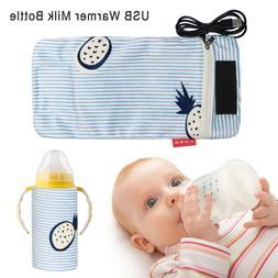 USB Warmer Milk Bottle Infant Storage Bag Feeding Bottle Hea