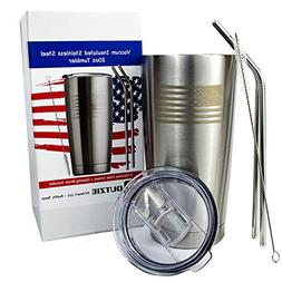 OUTZIE Vacuum Insulated American Flag Tumbler 20oz Built Fro