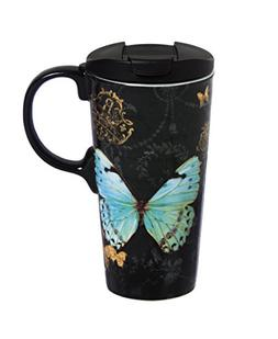 Butterfly 17 oz. Ceramic Perfect Cup