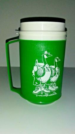 Vintage Eddie Bauer  Green Duck Graphic Insulated 12 Oz Alad