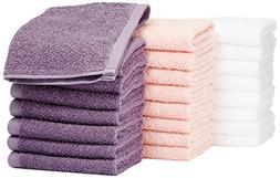 AmazonBasics Washcloth - Pack of 24
