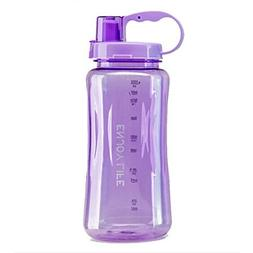 Lonni 2L Sports Water Bottles, Portable Wide Mouth Big Plast