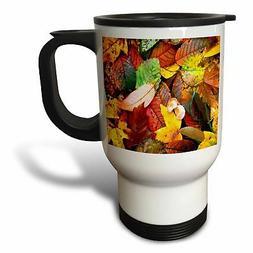 3dRose White Persian Travel Mug, 14-Ounce, Stainless Steel