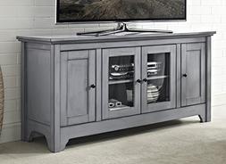 "WE Furniture 52"" Wood TV Media Stand Storage Console - Antiq"