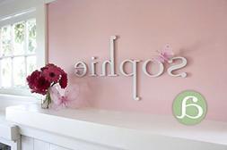 """Wooden Hanging Wall Letters """"a"""" - White Decorative Wall Lett"""